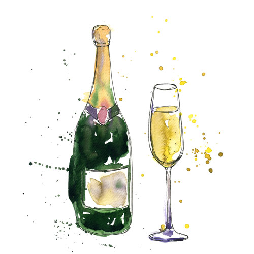 Vykort Champagne