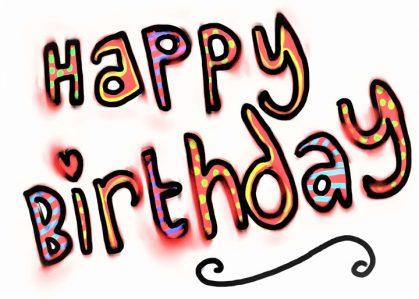 Vykort Happy Birthday