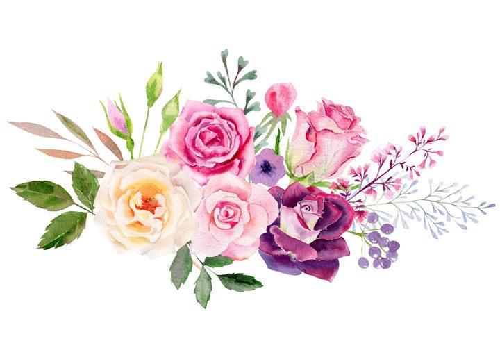 Vykort rosor