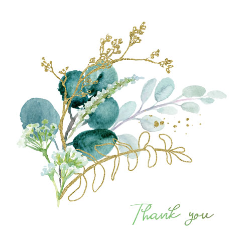 Vykort Thank You