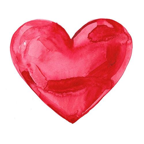 Vykort stor hjärtan