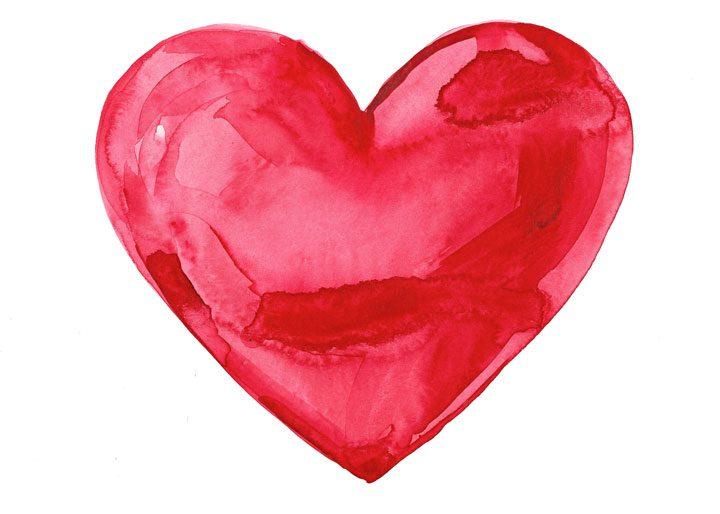 Vykort stort hjärta