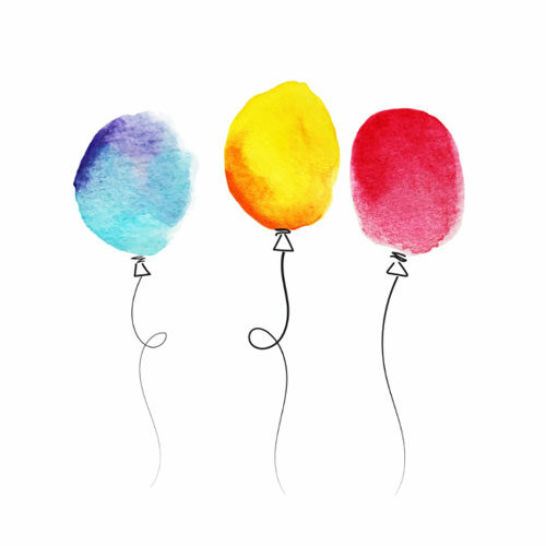 Vykort ballons